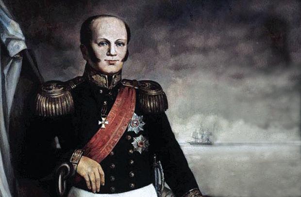 Адмирал Д. Н. Сенявин. <br>